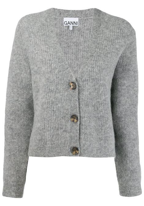 Cardigan oversize in grigio - donna GANNI | K1208921
