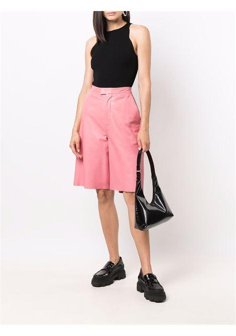 Top in maglia a coste senza maniche in nero - donna GANNI | K1523099