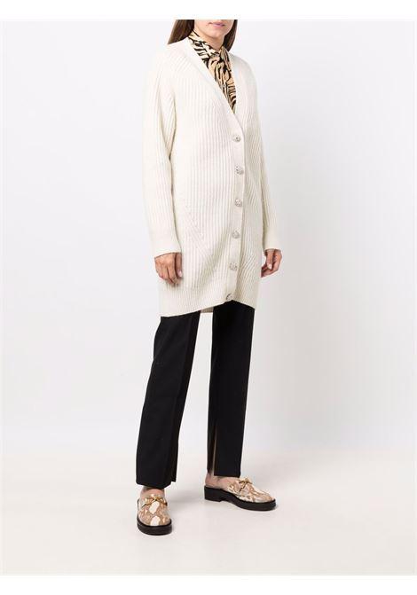 Cardigan a coste in bianco - donna GANNI | K1524135