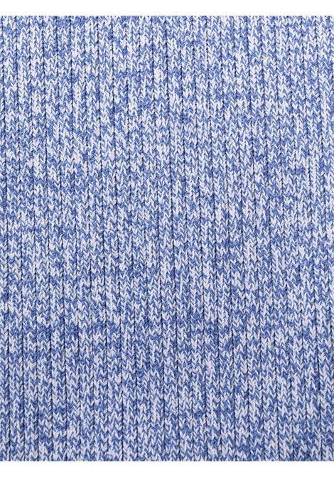Mélange ribbed-knit fitted dress daphne blue- women GANNI | K1572572