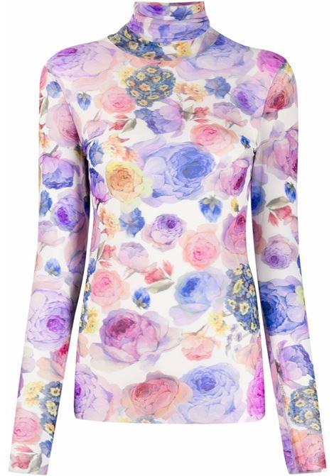 Top dolcevita a fiori multicolore - donna GANNI | T2887999