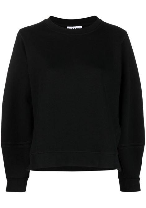 Black bishop-sleeve sweatshirt  - women GANNI | T2921099