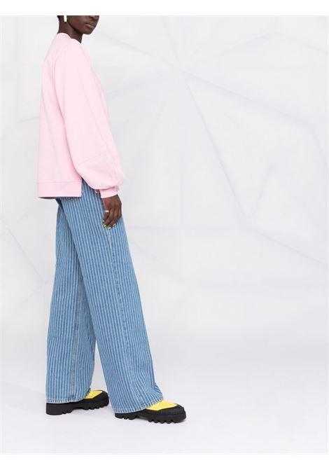Logo-print sweatshirt in sweet lilac pink - women  GANNI | T2921465