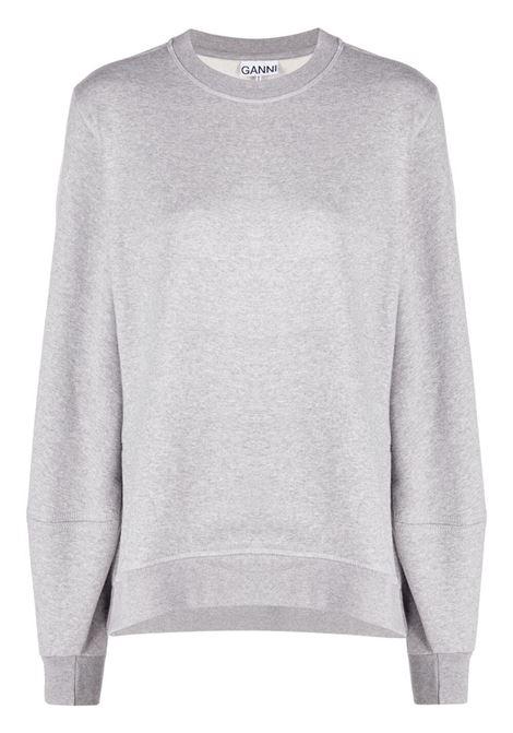 Grey rear embroidered logo sweatshirt - women GANNI | T2921921
