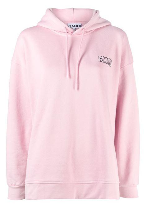 Felpa con ricamo rosa - donna GANNI | T2923465