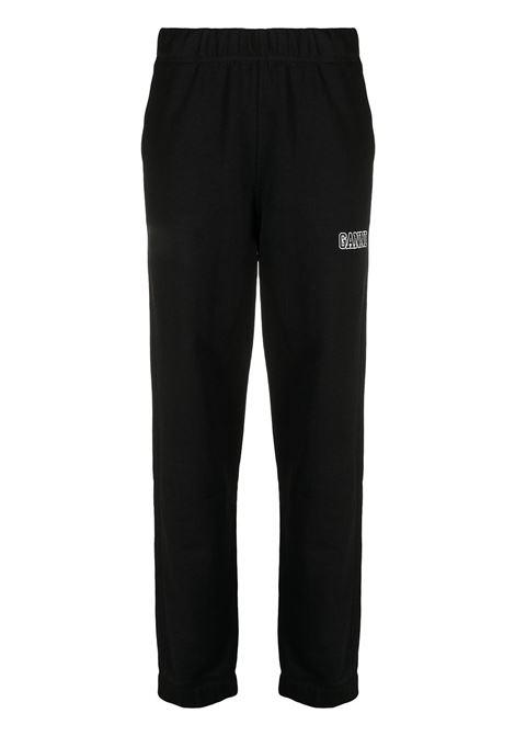 Pantaloni sportivi con vita elasticizzata neri - donna GANNI | T2925099
