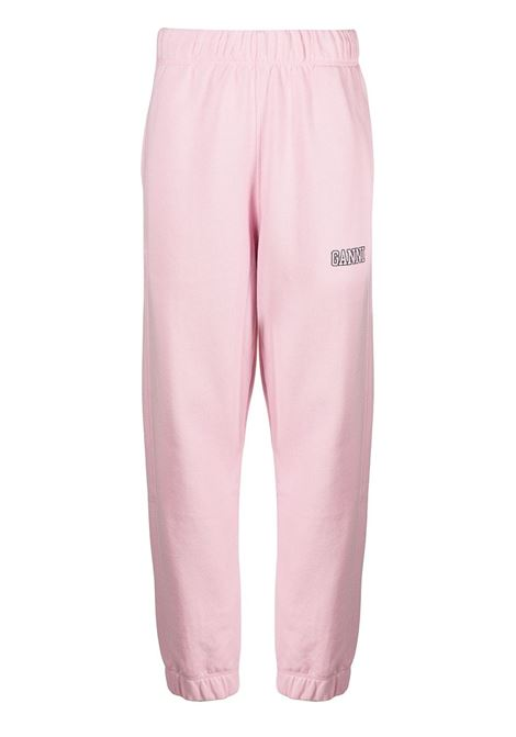 Pantaloni sportivi con vita elasticizzata rosa - donna GANNI | T2925465