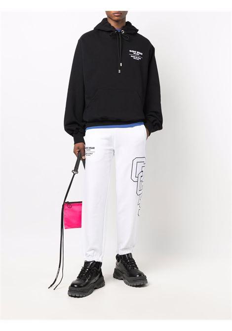 Felpa con logo a contrasto in nero  - uomo GCDS | CC94M02151002