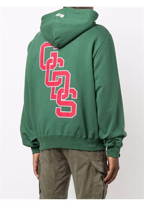 Felpa con logo a contrasto in verde  - uomo GCDS | CC94M02151005