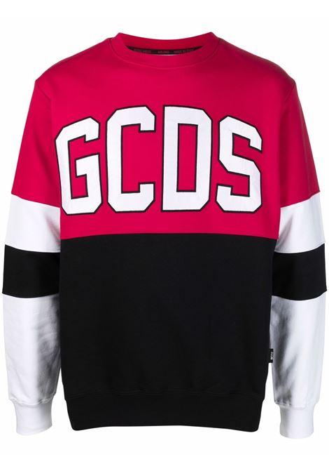 Color-block logo-print sweatshirt - men GCDS | CC94M02151403