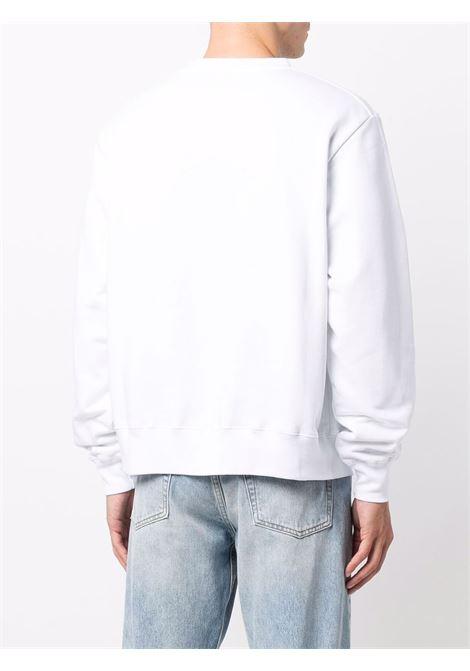 Hands crew-neck sweatshirt in white - men  GCDS | CC94M02151701