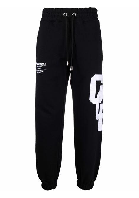 Pantaloni sportivi con logo a contrasto in nero - uomo GCDS | CC94M03150402