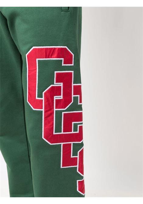 Pantaloni sportivi con logo a contrasto in verde - uomo GCDS | CC94M03150405