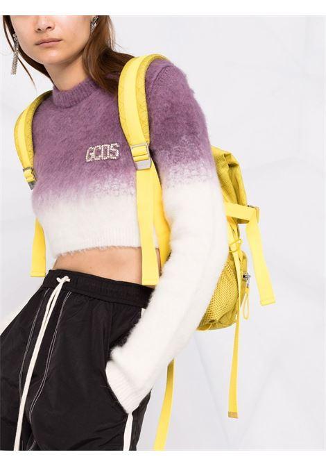 Maglione corto con effetto sfumato in viola e bianco - donna GCDS | CC94W02041962