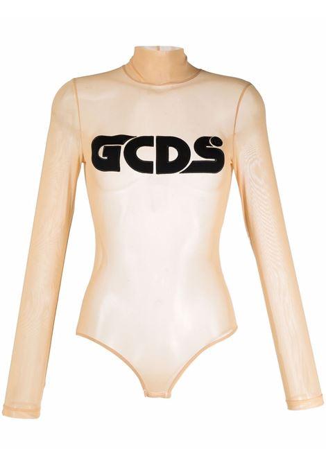 Body con logo in pesca e nero - donna GCDS | CC94W02070102