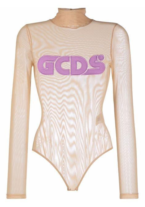 Body con logo in color pesca e viola - donna GCDS | CC94W02070162