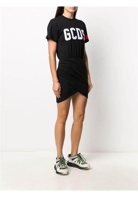 Abito modello T-shirt con logo in nero - donna GCDS | CC94W02101602