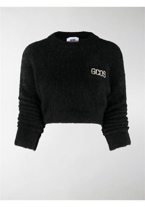 Maglione corto con stampa in nero - donna GCDS | CC94W02110602