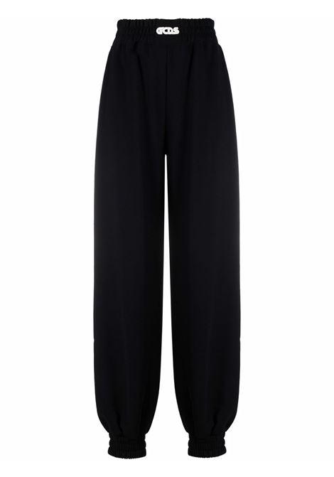Pantaloni sportivi morbidi in nero e bianco - donna GCDS | CC94W03145702
