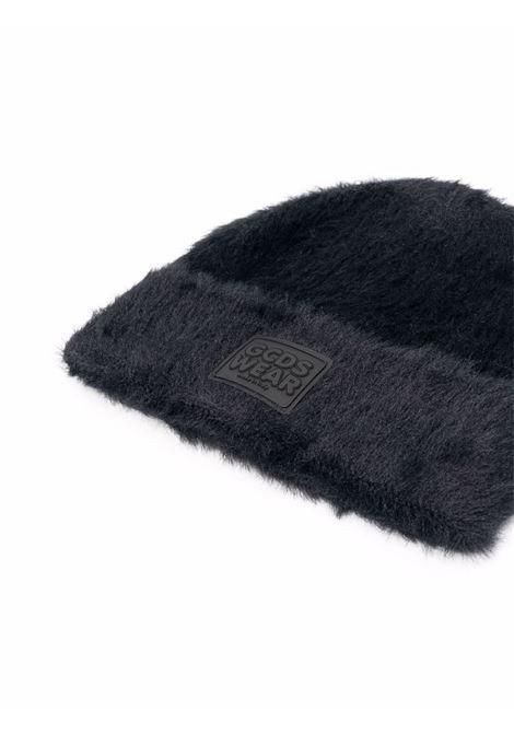 Cappello beanie con logo in nero - uomo GCDS | FW22M01002302
