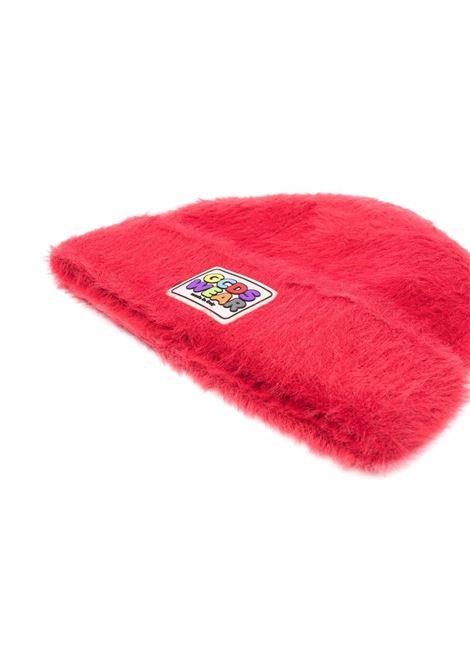 Cappello beanie con logo in rosso - uomo GCDS | FW22M01002303