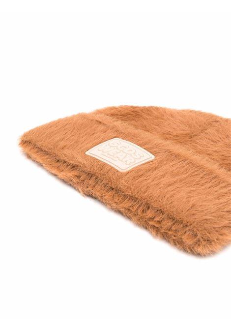 Cappello beanie con logo in marrone - uomo GCDS | FW22M01002314