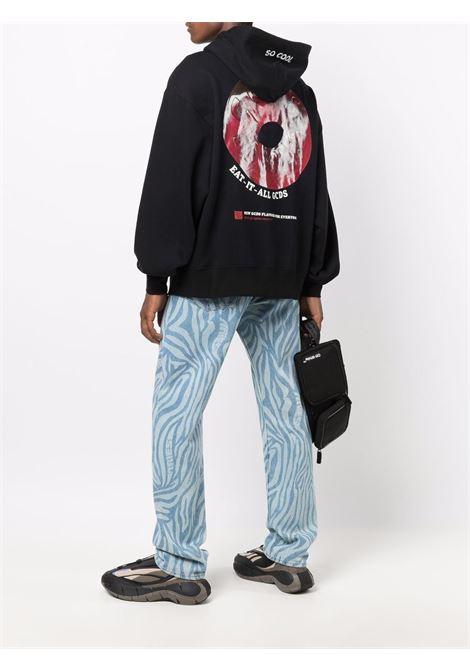 Fempa con logo a ciambella in nero - uomo GCDS | FW22M02005202