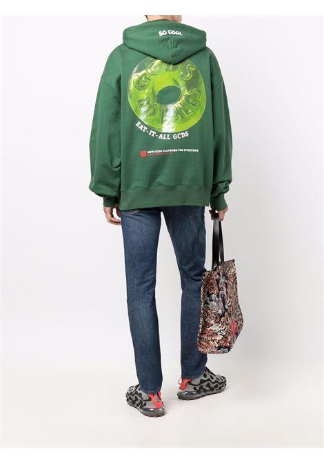 Fempa con logo a ciambella in verde - uomo GCDS | FW22M02005218