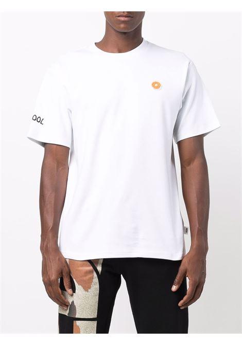 T-shirt con logo a ciambella in bianco - uomo GCDS | FW22M02005401