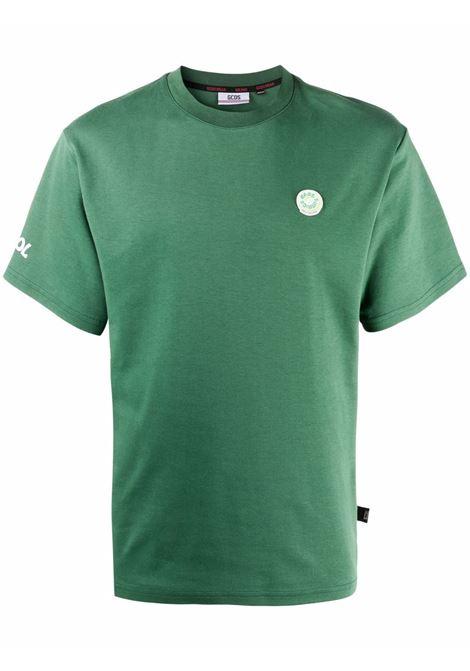 T-shirt con logo a ciambella in verde - uomo GCDS | FW22M02005418