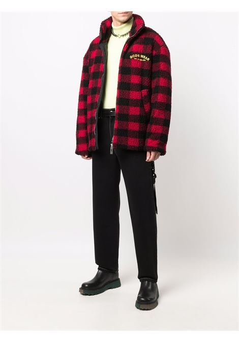 Black straight-leg jeans - men  GCDS | FW22M03020202