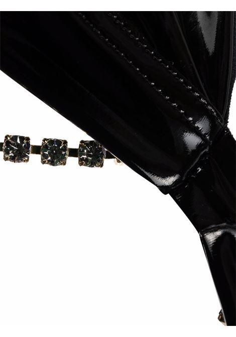 Reggiseno lucido con strass in nero - donna GCDS | FW22W01010002