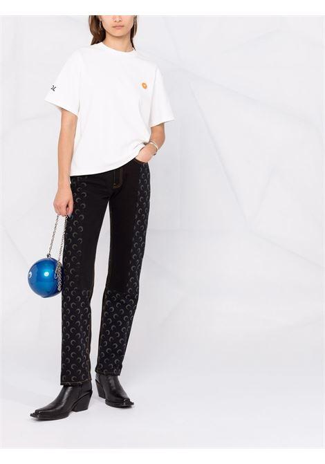 T-shirt con logo in bianco - donna GCDS | FW22W02006466
