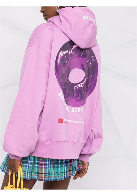 Felpa con logo in pervinca-viola - donna GCDS | FW22W02006562