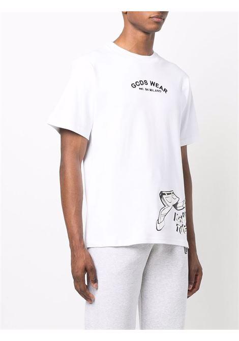 Looney tunes cartoons t-shirt in white - men GCDS | WB22M02005101