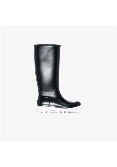 Giove Bis 30mm rain boots in black and white - women  GIA BORGHINI   GIOVEB184