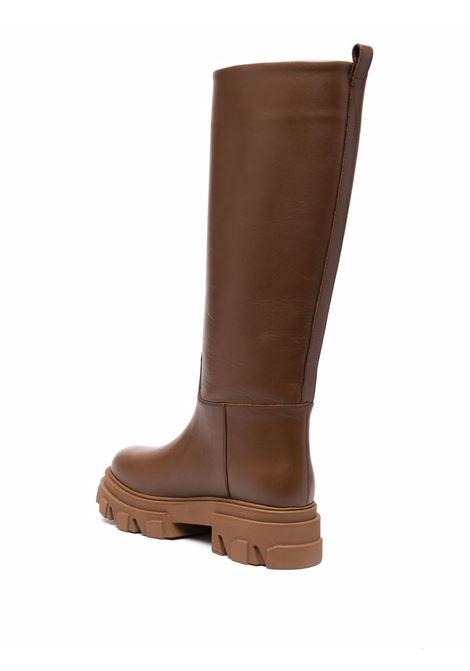 Brown tubular combat boots - men  GIA BORGHINI | PERNI07B122