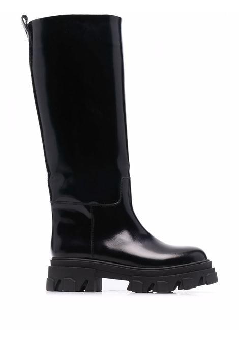 Teisbaek Tubular high boots black- women GIA BORGHINI | PERNI07D301