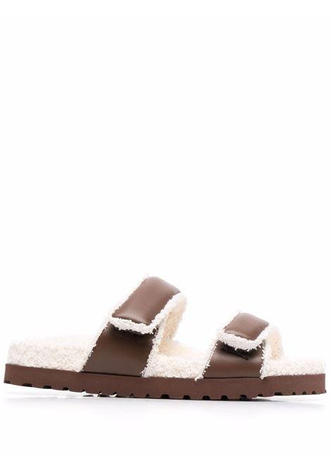 Strap on slides brown- women GIA BORGHINI | PERNI11A129