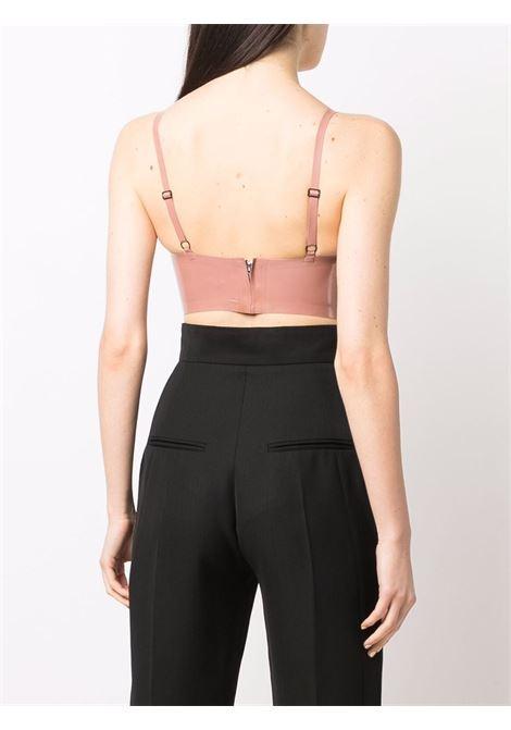 Top  a corsetto con effetto lucido in rosa - donna GIUSEPPE DI MORABITO | 004LT15732