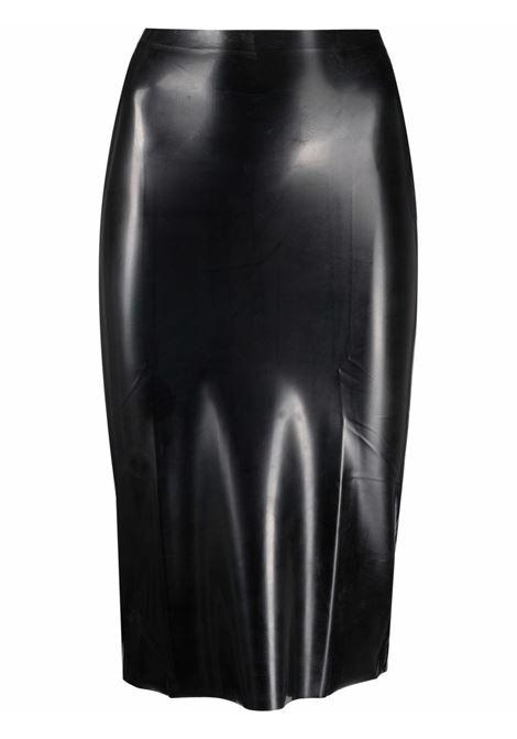 Black high-shine midi skirt - women GIUSEPPE DI MORABITO   006LT15710