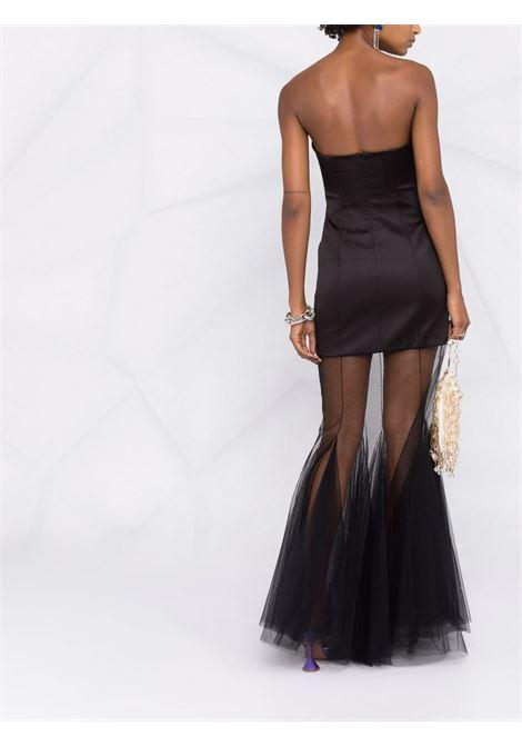Black sheer-panelled strapless dress - women  GIUSEPPE DI MORABITO   068LD10910