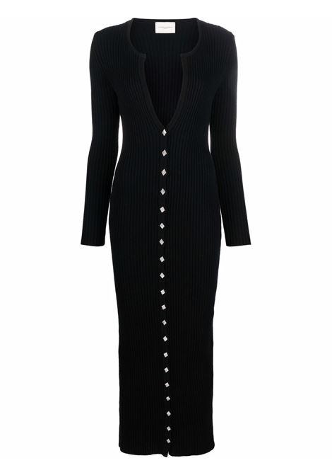 Black ribbed knit maxi dress - women  GIUSEPPE DI MORABITO   117KN15510