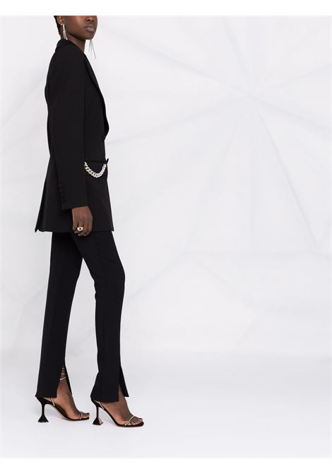 Chain-detailing blazer in black - women GIUSEPPE DI MORABITO | PF21041JA13610