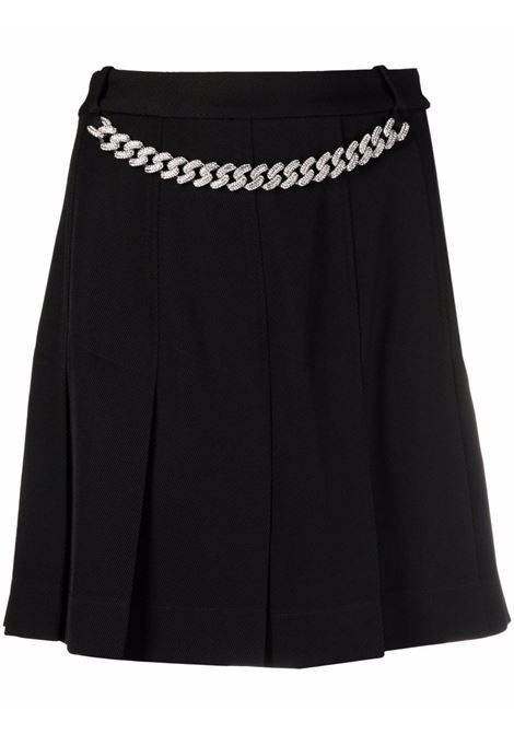 Minigonna plisse con catena in nero - donna GIUSEPPE DI MORABITO | PF21063SK13610