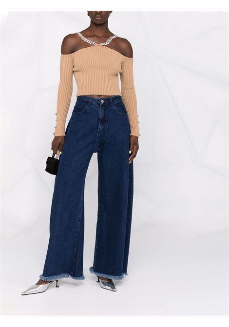 Maglione con cinturino a catena beige - donna GIUSEPPE DI MORABITO | PF21082KN14605