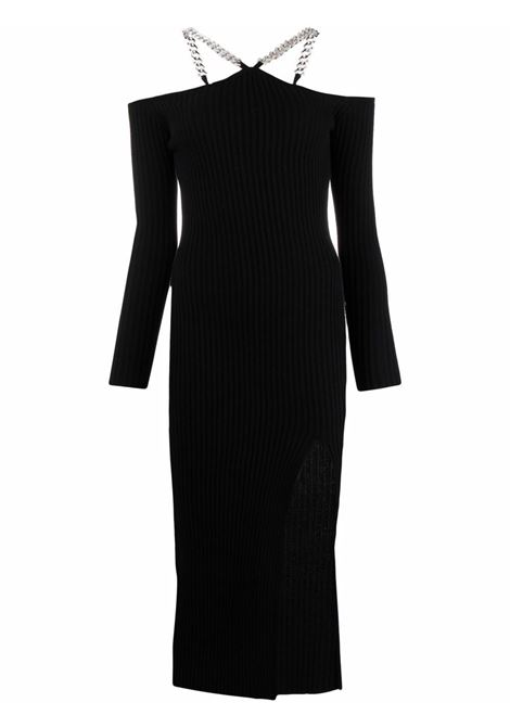 Chain-link ribbed dress black - women GIUSEPPE DI MORABITO | Dresses | PF21083KN14610