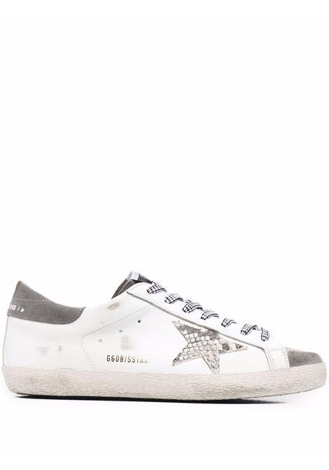 Sneakers superstar con effetto vissuto bianco e grigio - uomo GOLDEN GOOSE | Sneakers | GMF00101F00204510772