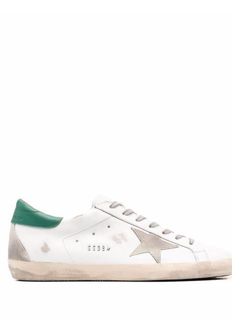 Sneakers superstar con effetto vissuto in bianco e verde - uomo GOLDEN GOOSE | Sneakers | GMF00102F00218010802