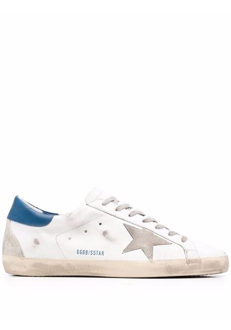 Sneakers superstar con effetto vissuto in bianco e blu - uomo GOLDEN GOOSE | Sneakers | GMF00102F00218110509